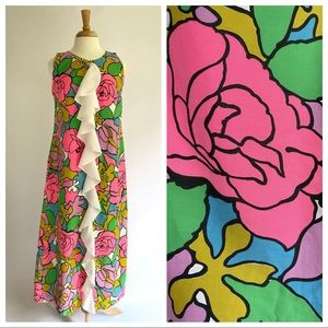 Vtg 1960s Mod Magic Dress M